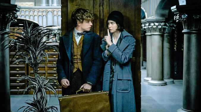 HIDDEN: Eddie Redmayne and Katherine Waterston in Fantastic Beasts and Where To Find Them.