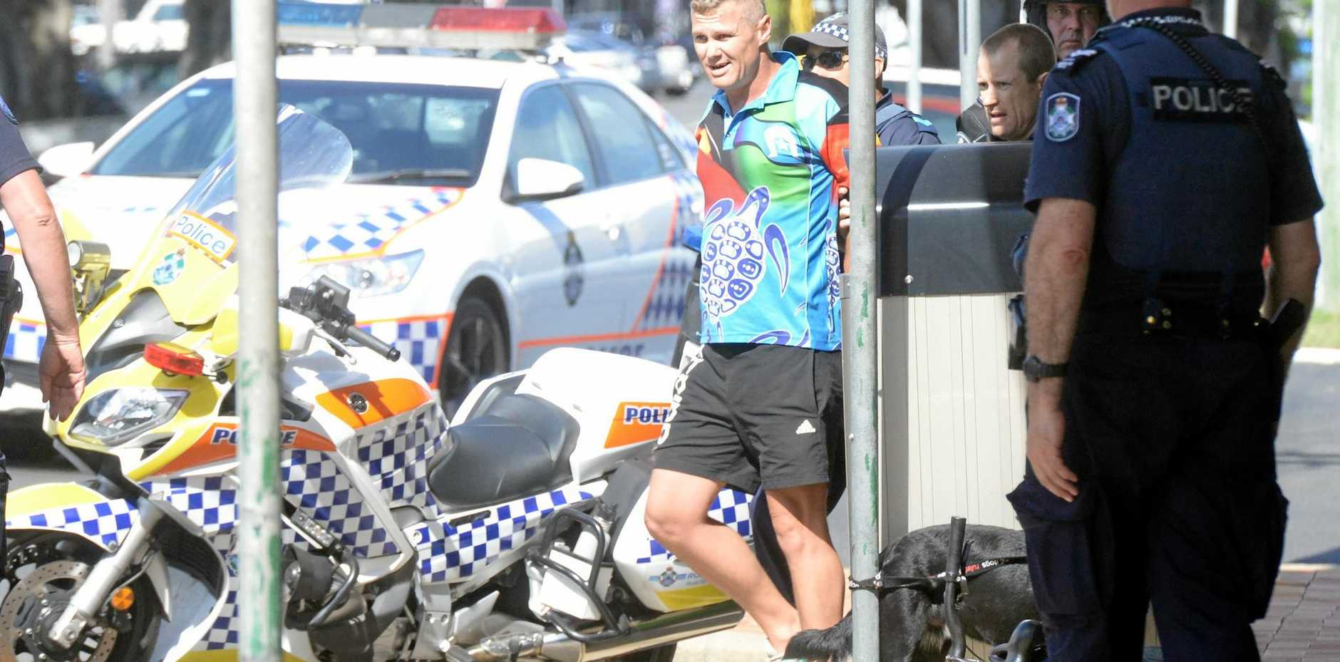 CITY CHASE: A man was arrested after police chased him on foot through the CBD this afternoon.