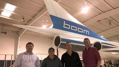 SPACE RACE: Blake Scholl (Boom Supersonic), Joshua Krall (Boom Supersonic), Nathan Pollock (Katapult Design), Troy Nyssen (Katapult Design).