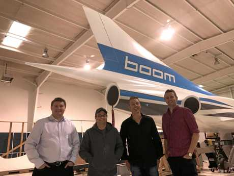 SPACE RACE: Blake Scholl (Boom Supersonic), Joshua Krall (Boom Supersonic), Nathan Pollock (Katapult Design), Troy Nyssen (Katapult Design).