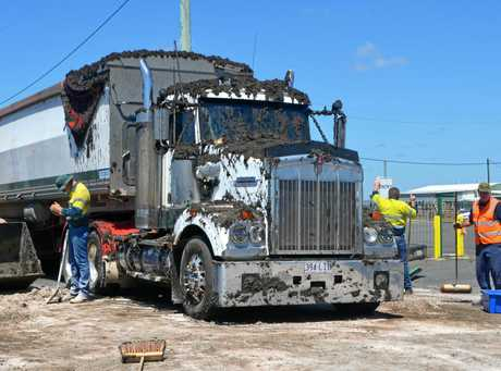 A truck carrying human excrement lost its load in Crowley Vale.