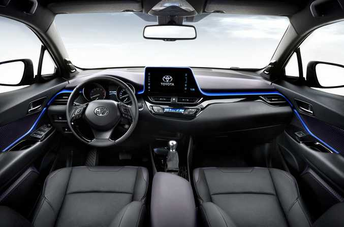 Toyota C-HR's cabin in left-hand drive format.