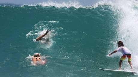 DROUGHT BREAKS: Big waves return to Noosa Heads.