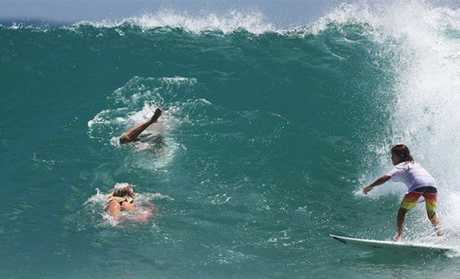 DROUGHT BREAKS: Big waves return to Noosa Heads.