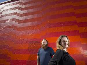 Why does this Toowoomba wall's artwork keep changing?