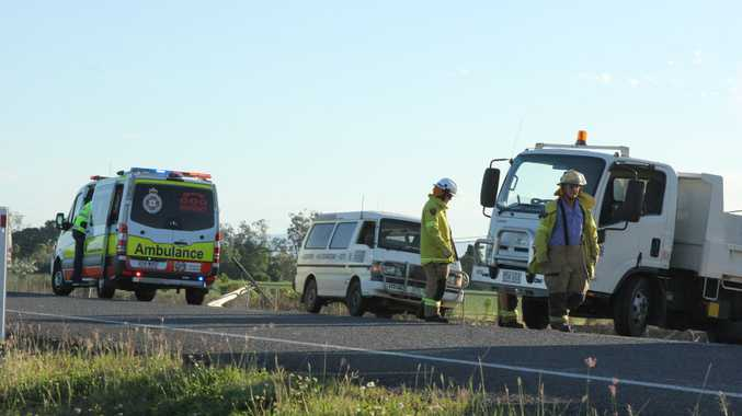 The scene 1km south of Proserpine this afternoon.