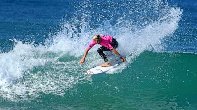 TOP-CLASS: Moonee grom Taj Watson is competing at the Australian Junior Surfing Titles this week.