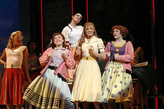 ICONIC ROLE: Gretel Scarlett, centre, in a scene from Grease The Musical which toured nationally.