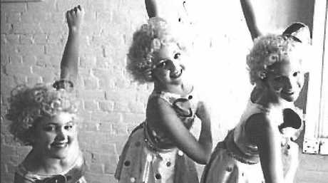 Gretel Scarlett (middle) with Rachel Green and Natalya Belonogoff before a Capricorn Dance School performance.