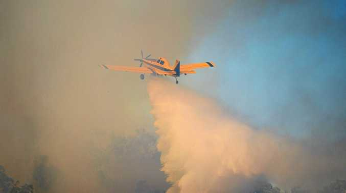 Water bombing is being carried out at Shoalwater Bay at a fire that has been burning since November 1.