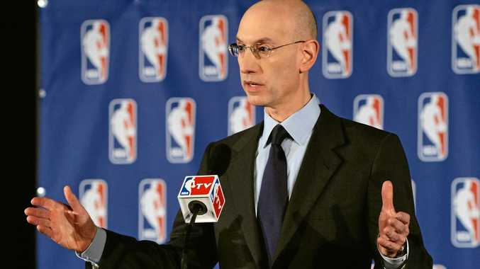 NBA commissioner Adam Silver speaks during a press conference.