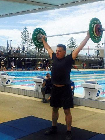 Mackay's Mark Easton competed in the 55-59 age group at the Pan Pacific Masters Games in the crossfit competition.