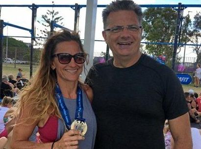 Mackay's Shannan Jackson and Mark Easton at the 2016 Pan Pacific Masters Games at the Gold Coast. They will return next year to compete.