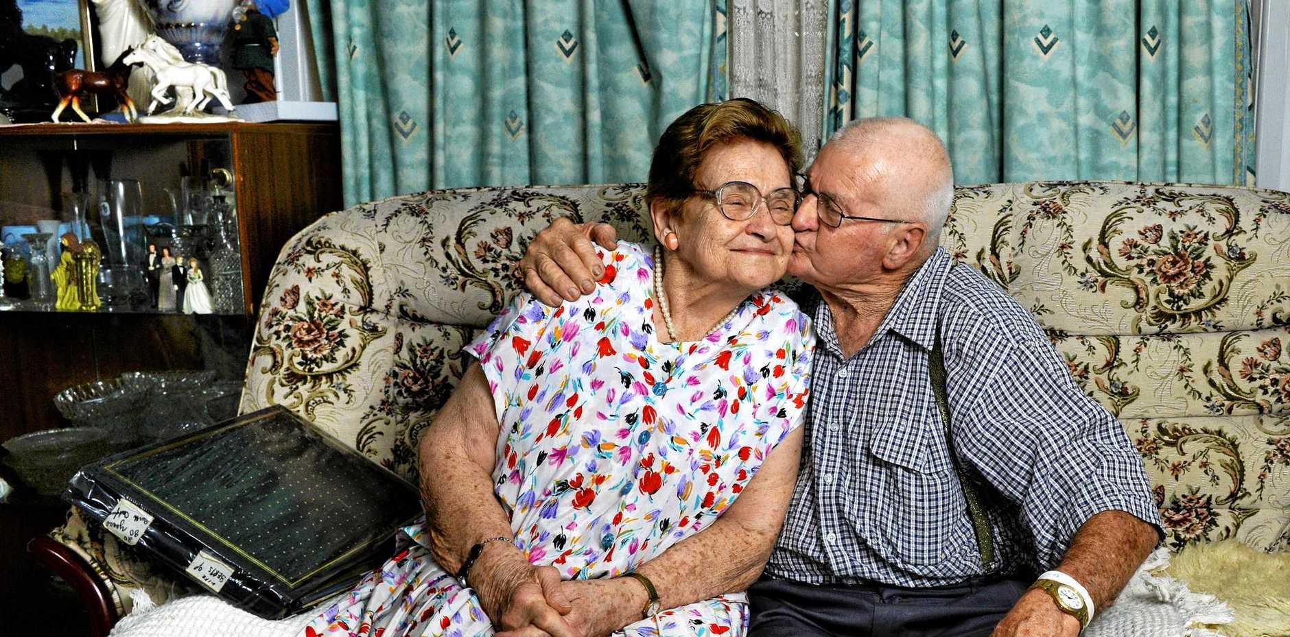 Betty and Albert Ross celebrate their 65th wedding anniversary.