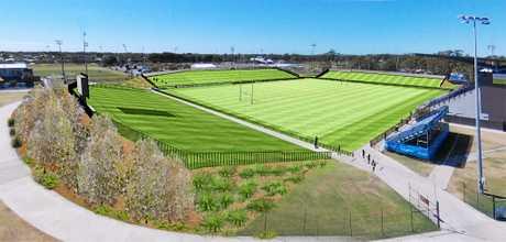 IMPRESSION: An artist's impression of the upgraded Sunshine Coast Stadium.