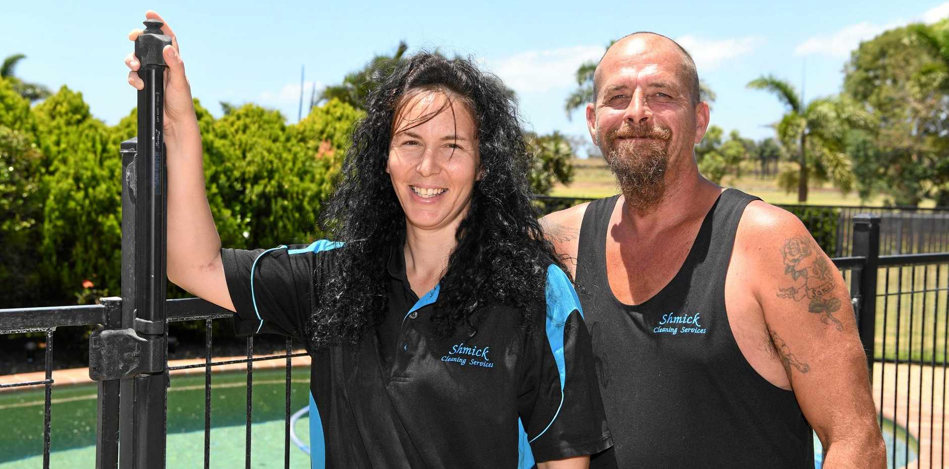 LOCAL CLEANERS: Sandra and Mick Herbert are Facebook favourites.