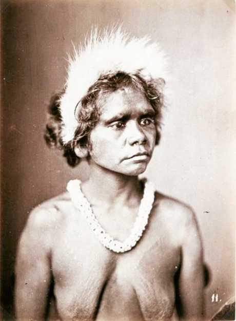 An Aboriginal woman in an historic photo from  J.W. Lindt's book.