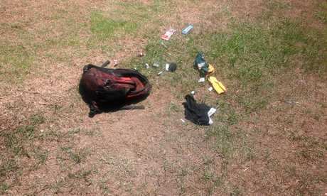 Brendan Appo found these discarded items in Bob Liddiard Park in South Grafton on November 20, among them was a discarded syringe