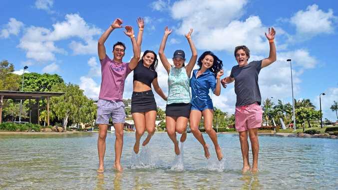 JUMPING FOR JOY: Luke Borghardt, Kelsey Scott, India Lade, Hayley Galea And