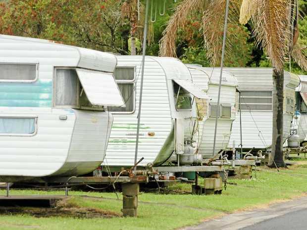 Lismore Tourist Caravan Park. Photo The Northern Star Archives