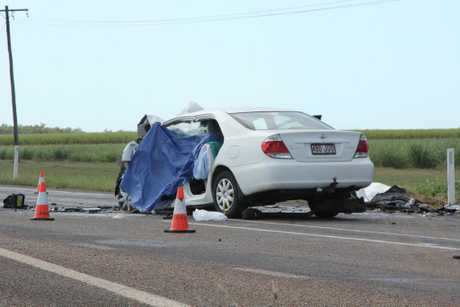 Twin vehicle crash on the Bruce Hwy 15kms north of Proserpine.