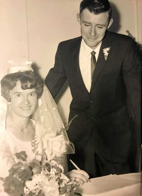 WEDDING BELLS: Rosemary and Darryl Byers were married on November 26, 1966.
