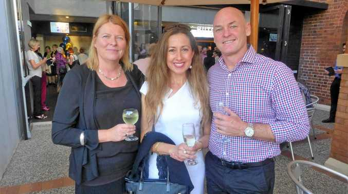 Having a great time at the season launch are (from left) Jane Calder, Lorelle and Andrew Fox.