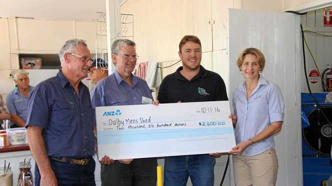 DONATION: Dalby Men's Shed received $2600 from DDCGInc.