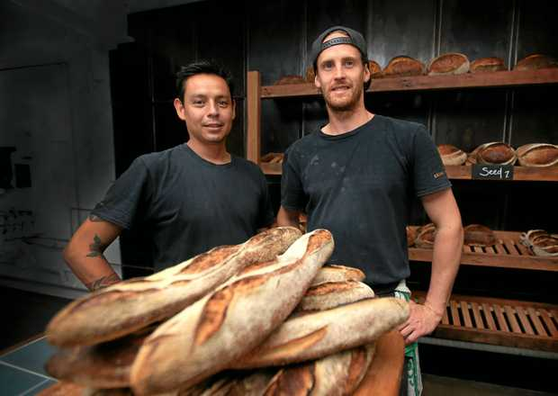 LOVELY LOAVES: Sam Saulwick and Tom Scott from The Bread Social on Bay Street, Tweed Heads.