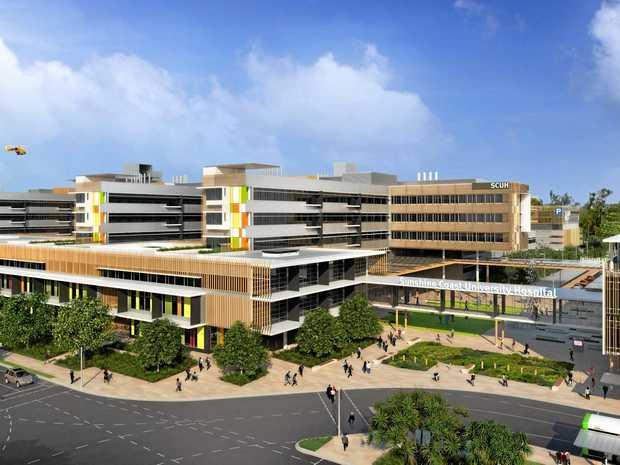 VISION: Sunshine Coast University Hospital east view.