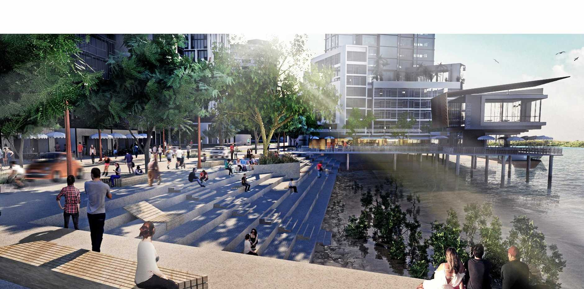 SHAPING UP: An artists impressions of a future Mackay.