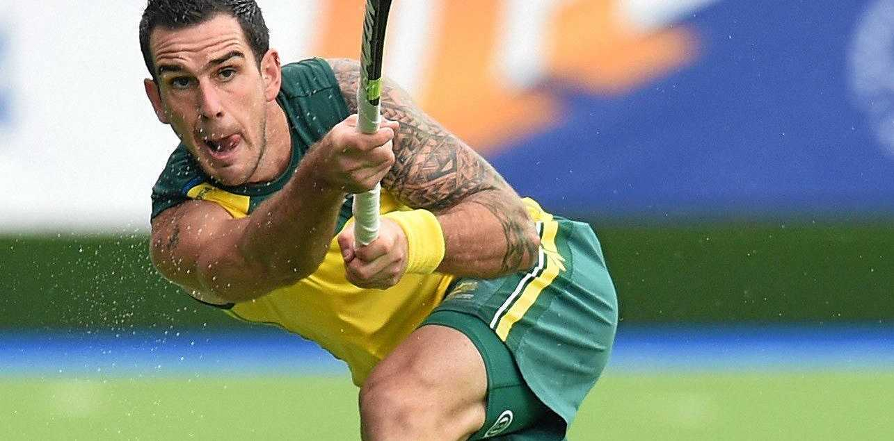 Kieran Govers of Australia scored a double against New Zealand.