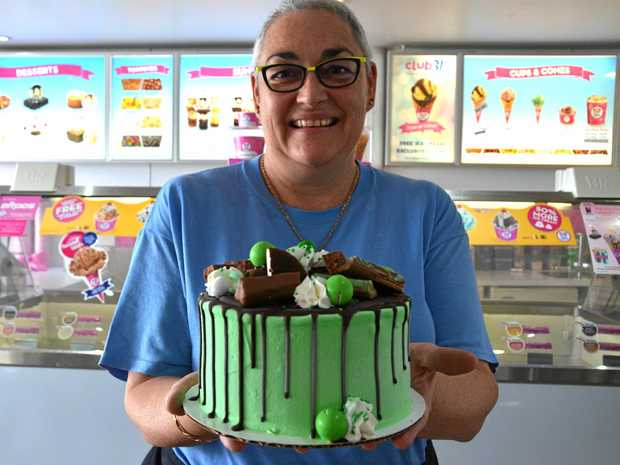 Baskin-Robbins Ballina franchise partner Michelle Eggins is ready for today's National Cake Day.
