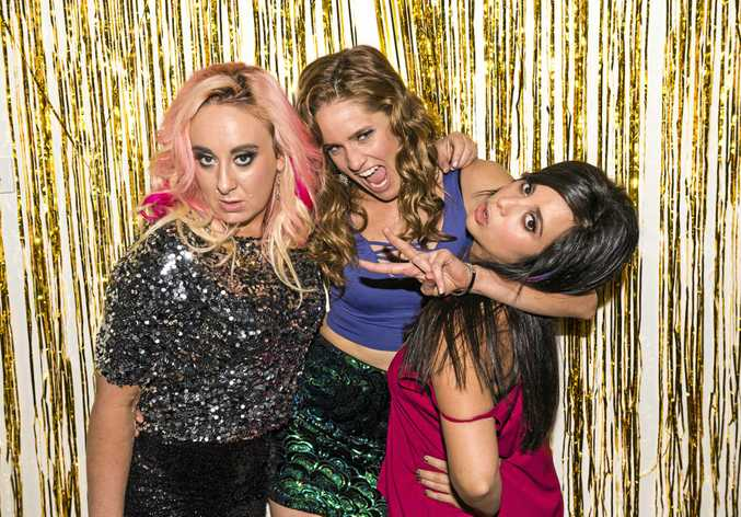 Greta Lee Jackson, Sarah Bishop and Adele Vuko create and star in the ABC's new comedy sketch series Wham Bam Thank You Ma'am.
