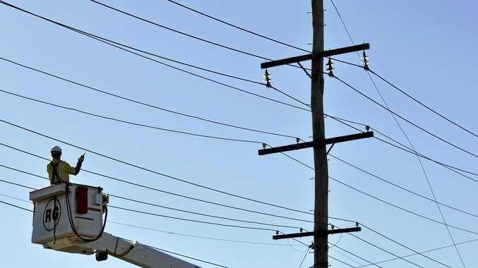 POWER: Ergon inspects lines.