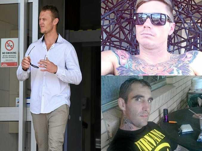 TORTURE TRIO: Shaun Wade Simpson (left), 26, walked from court yesterday but Beau Daniel Wynne (top right), 26, and Dane Luke Jagers, 33, remain behind bars.