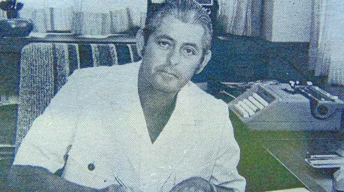 John Jones in his office during his days as general manager of the Sunshine Coast Newspaper Company.