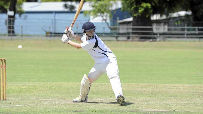 READY FOR ACTION: Coutts Crossing all-rounder Nick Wood winds up for the side earlier this year.