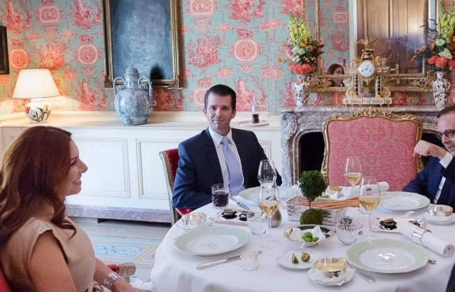 Donald Trump Jr at a meeting last month with Randa Kassis Facebook