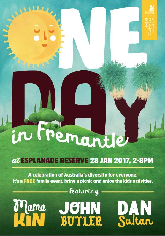 A flyer for Fremantle's One Day event, scheduled for January 28 (not 26).