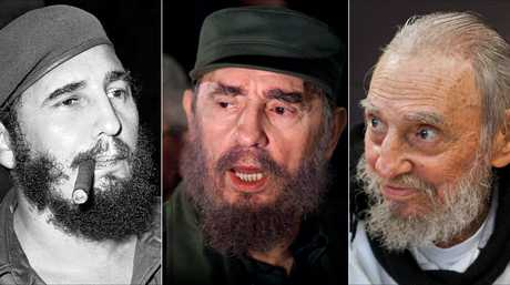 This combo of three file photos shows Fidel Castro, from left; smoking a cigar in Havana, Cuba, April 29, 1961; speaking to the media while on a mission to collect Elian Gonzales in Washington, D.C., April 6, 2000; and at his Havana home on Feb. 13, 2016. The man who nationalized the Cuban economy and controlled virtually every aspect of life on the island celebrated his 90th birthday in August.
