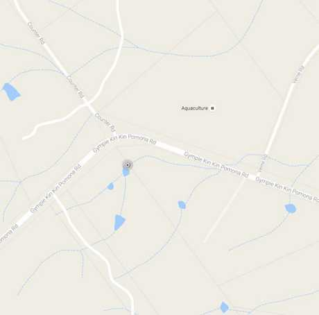 AREA: A Google map showing the rough area where a woman on horseback was hit by a concrete truck this morning.
