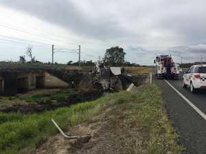 Truck driver killed in fiery crash near Rockhampton