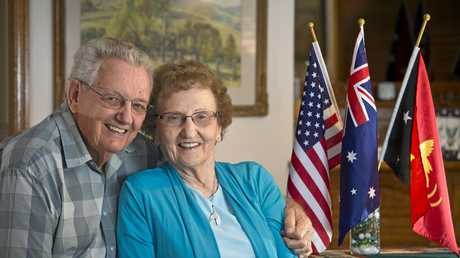 HOME COMING: Roy and Eunice Hausler, who met as missionaries in PNG, have returned to Toowoomba for their 50th wedding anniversary.