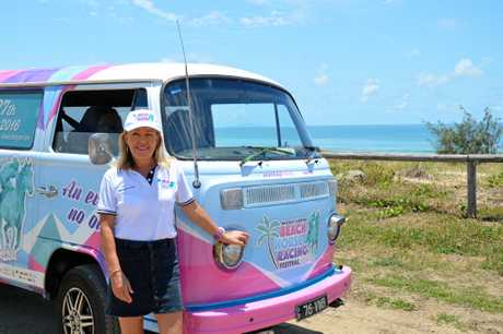 NEW AMBASSADOR: Chrissy Evangelou is handing over her reins for the Mackay Airport Beach Horse Racing Festival in 2017.Photo Cas Garvey / Daily Mercury