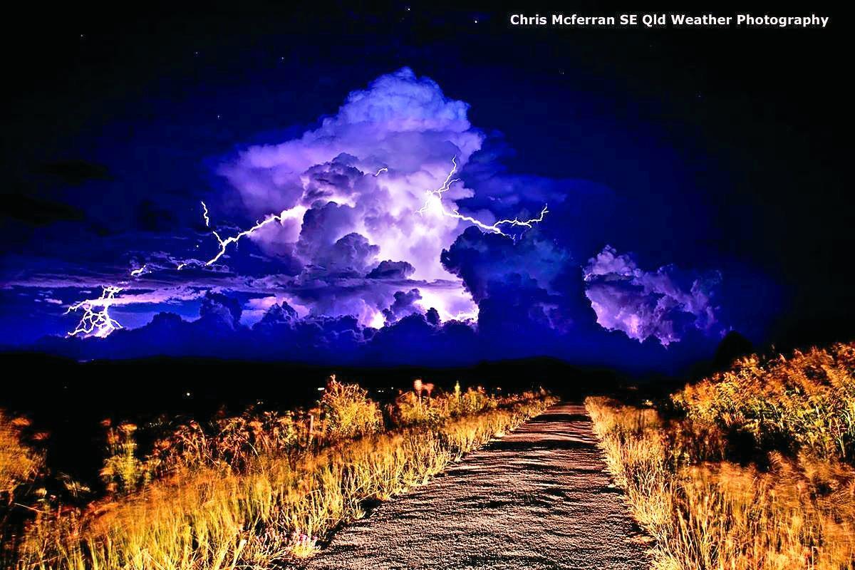 LIGHT SHOW: Warwick photographer Chris McFerran took this magnificent shot of a storm in full flight.