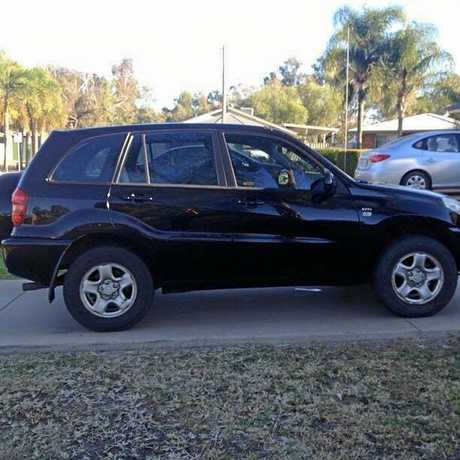Terry Lloyd's black Rav4 was found abandoned in the Piliga Forest in New South Wales.