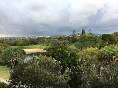 Grey clouds looming over Maroochydore and Buderim this morning