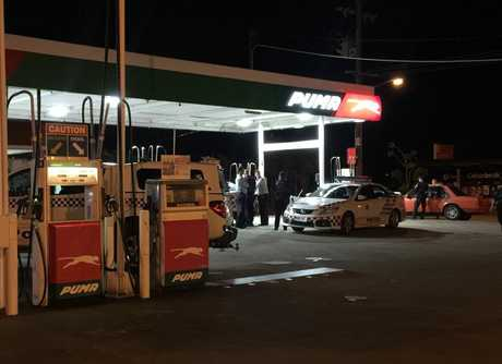 An apparent robbery happened at the Puma Service Station in Ferry St about 10pm
