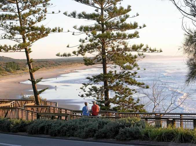 SCENIC WALK: The Coastal pathway offers views of the Sunshine Coast's coastline such as this stunning scene from Moffat Headland.